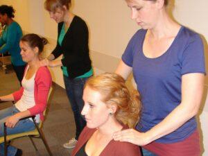Deelnemers aan de Workshop Stoelmassage